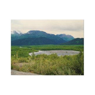 Alaskan Wilderness Wood Poster