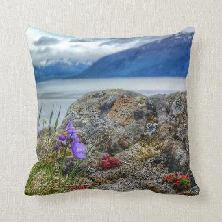 Alaskan wildflowers and lichen pillow