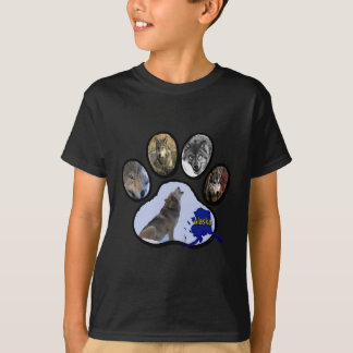 Alaskan Wolf Paw Print T-Shirt