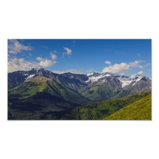 Alaska's Chugach Mountain Range Poster