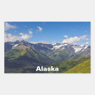 Alaska's Chugach Mountain Range Rectangular Sticker