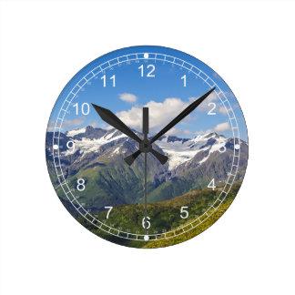 Alaska's Chugach Mountain Range Round Clock
