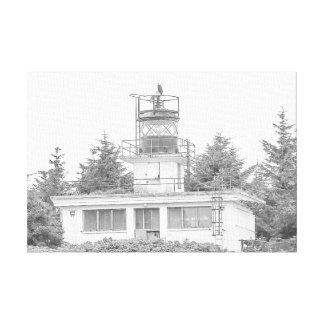 Alaska's Guard Island Light Canvas Print