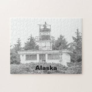 Alaska's Guard Island Light Jigsaw Puzzle