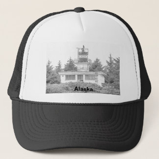 Alaska's Guard Island Light Trucker Hat