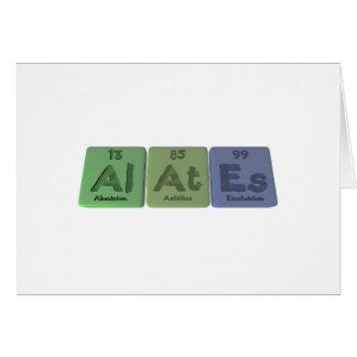 Alates-Al-At-Es-Aluminium-Astatine-Einsteinium Greeting Card