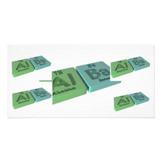 Alba as Aluminium Al and Barium Ba Custom Photo Card
