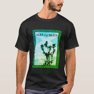 Alba Gu Bràth Scotland Alba Thistle Saltire Celtic T-Shirt