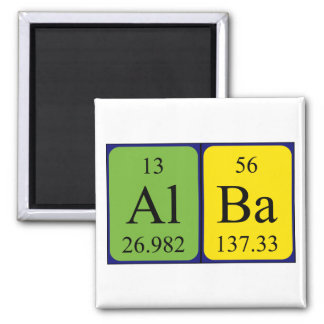Alba periodic table name magnet