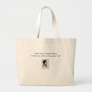 Alban Maria Johannes Berg Large Tote Bag