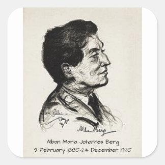 Alban Maria Johannes Berg Square Sticker