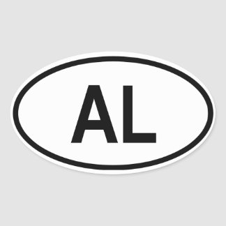 "Albania ""AL"" Oval Sticker"