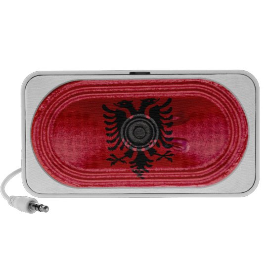 Albania Black Two Headed Eagle On Red Flag Speaker