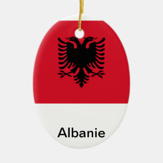 Albania Ceramic Ornament