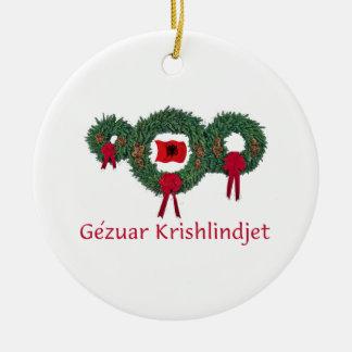 Albania Christmas 2 Ceramic Ornament