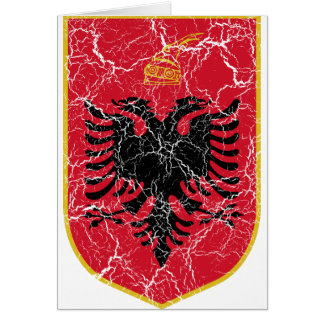 Albania Coat Of Arms Card