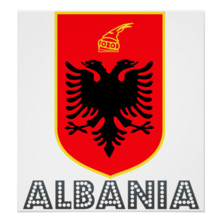Albania Coat of Arms Poster
