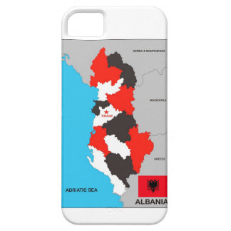 albania country political map flag iPhone 5 cover