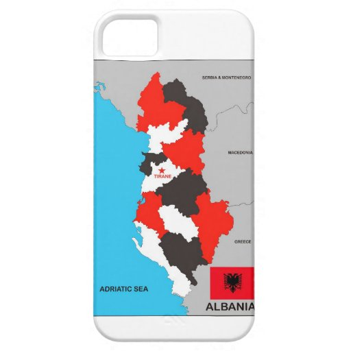albania country political map flag iPhone 5/5S case