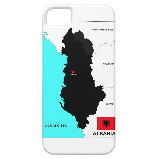 albania country political map flag cover for iPhone 5/5S