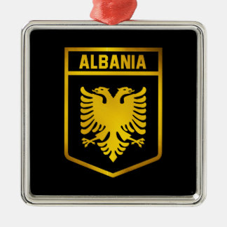 Albania Emblem Metal Ornament