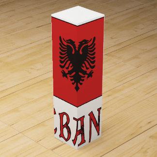 Albania Flag andWord Wine Box