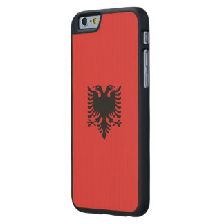 Albania Flag Carved® Maple iPhone 6 Slim Case