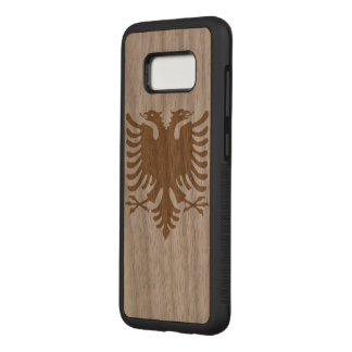 Albania Flag Carved Samsung Galaxy S8 Case