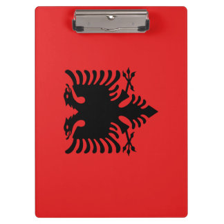 Albania Flag Clipboard