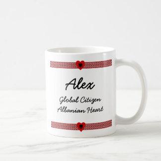 Albania Flag-hearts Map Customizable Mug