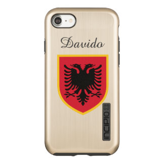Albania Flag Incipio DualPro Shine iPhone 8/7 Case