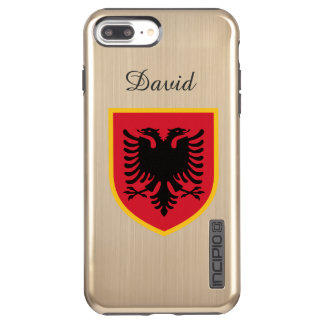 Albania Flag Incipio DualPro Shine iPhone 8 Plus/7 Plus Case