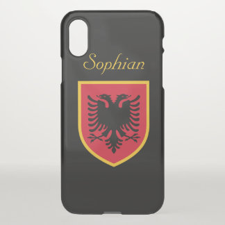 Albania Flag iPhone X Case