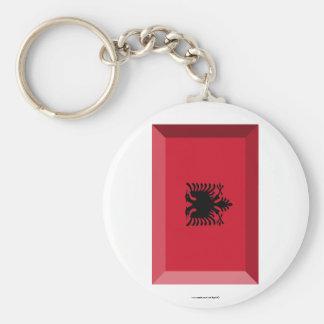 Albania Flag Jewel Keychain