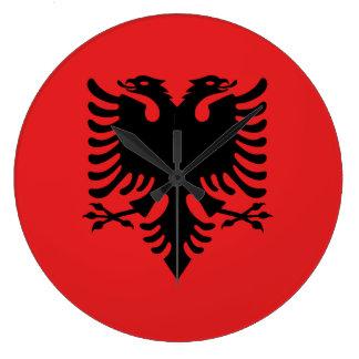 Albania Flag Large Clock