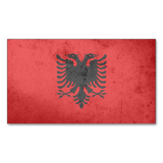 Albania Flag Magnetic Business Cards