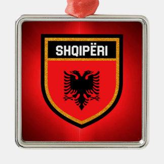 Albania Flag Metal Ornament