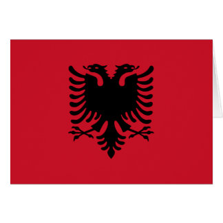 Albania Flag Note Card