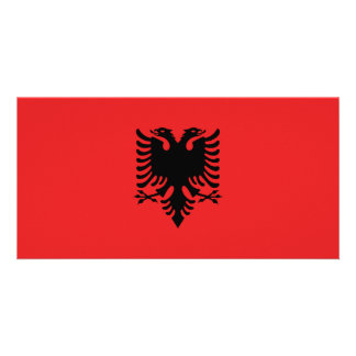 Albania Flag Picture Card