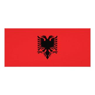 Albania Flag Rack Card