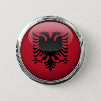 Albania Flag Round Glass Ball 6 Cm Round Badge