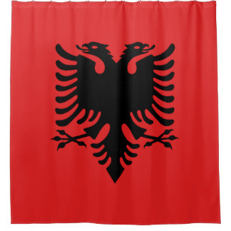 Albania Flag Shower Curtain