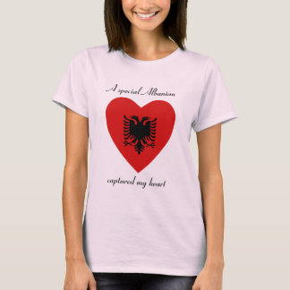 Albania Flag Sweetheart T-Shirt