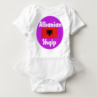 Albania Language And Flag Design Baby Bodysuit