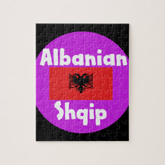 Albania Language And Flag Design Jigsaw Puzzle