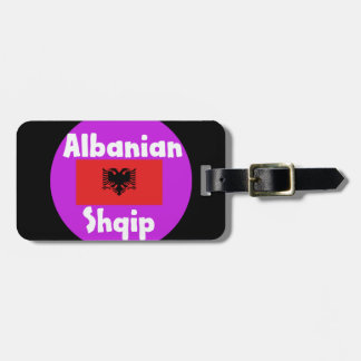 Albania Language And Flag Design Luggage Tag
