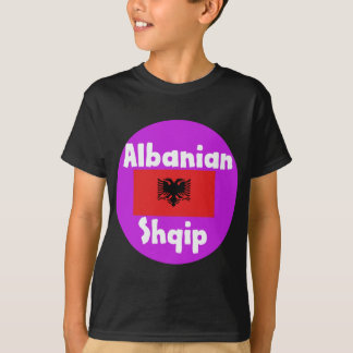 Albania Language And Flag Design T-Shirt