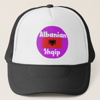 Albania Language And Flag Design Trucker Hat