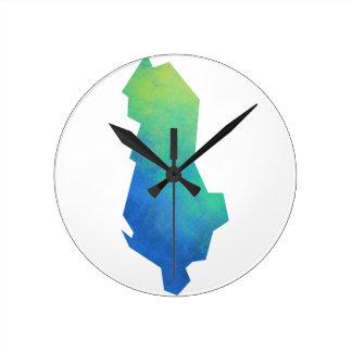 Albania Map Clock