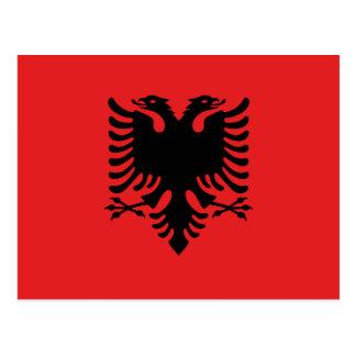 Albania National World Flag Postcard